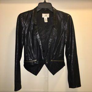 Armani Exchange Short Shiny Blazer